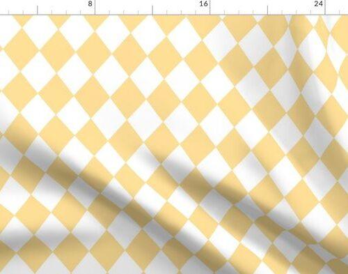 Buttercup Yellow Small Modern Diamond Pattern