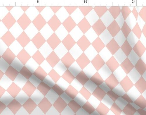 Pink Rosebud Small Modern Diamond Pattern