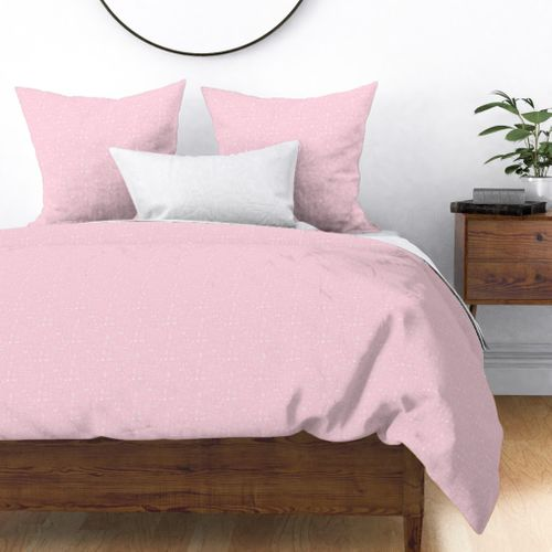 Scrubs Pink with White Outlined Drawings of Medical Symbols Duvet Cover