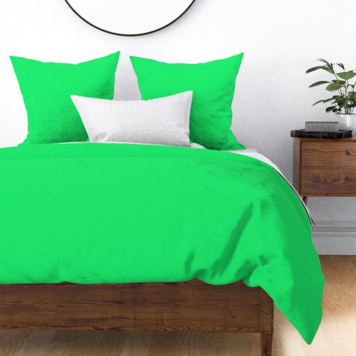 Lime Mojito Green Florida Colors of the Sunshine State Duvet Cover