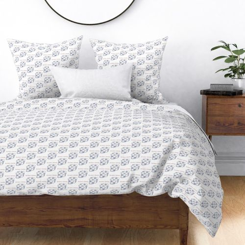 Mini 12 Days of Christmas 7 Swans A-Swimming Duvet Cover
