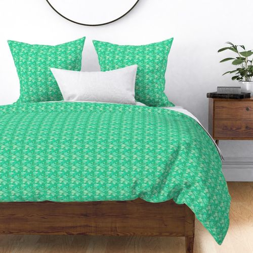 Small Sea Mint Camo Camouflage Pattern Duvet Cover