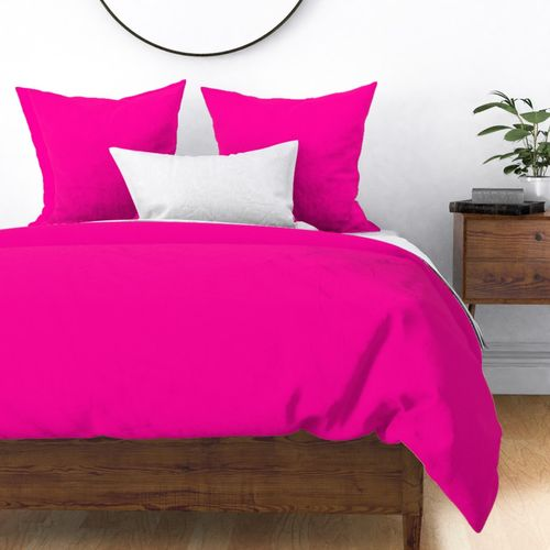 Neon Hot Pink Coordinate Solid for Neo Deco Prints Duvet Cover