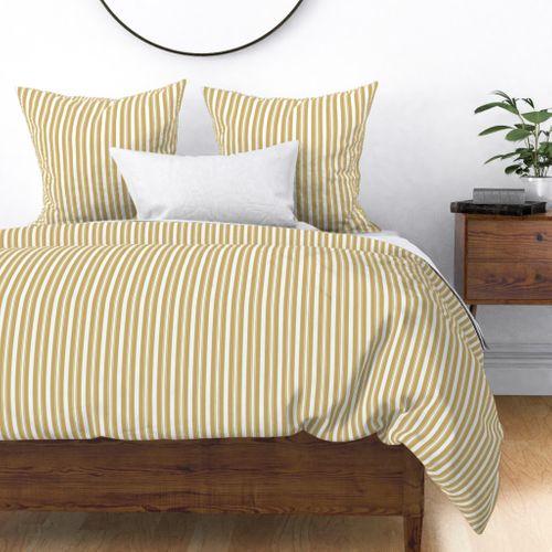 Khaki Beige Deckchair Stripes Duvet Cover