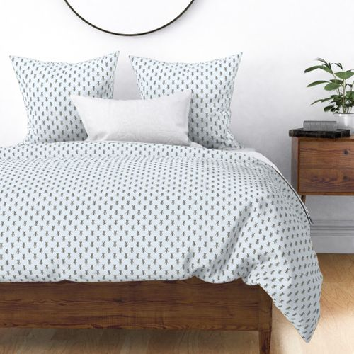 Badger Forest Friends All Over Repeat Pattern on Baby Blue Duvet Cover
