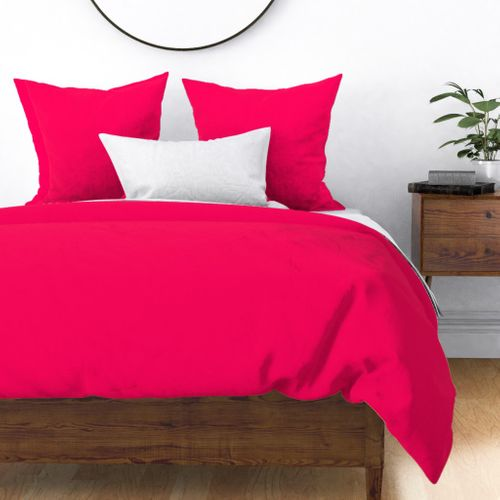 Neon Hot Pink Solid Duvet Cover