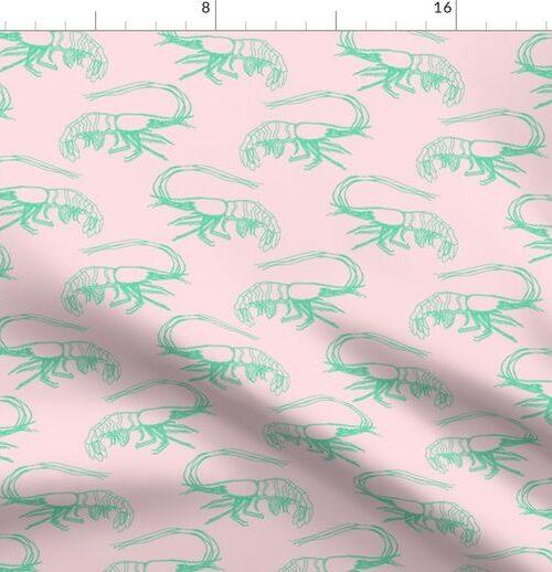 Aqua Shrimp on Pink