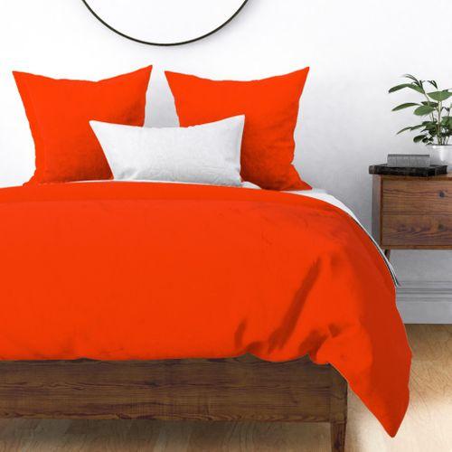 Classic Bright Orange Solid Coordinate Duvet Cover