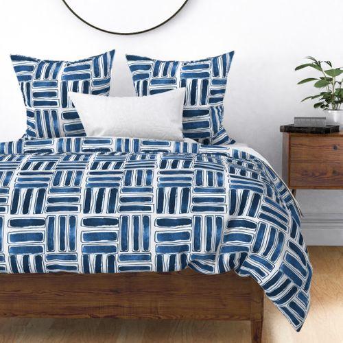 Kapa Sticks Ink Blue Duvet Cover