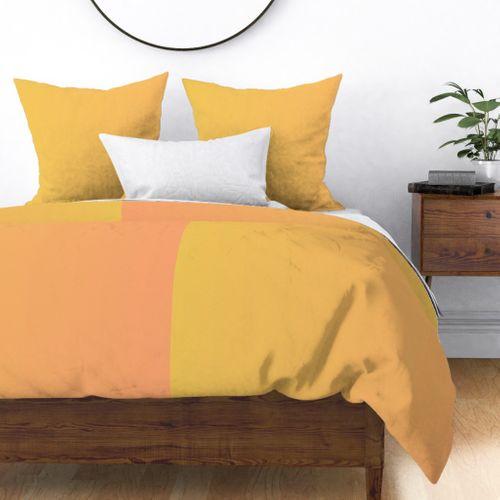 Mango Orange Ombre Sorbet Duvet Cover