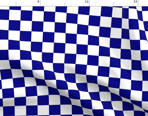Large Australian Flag Blue and White Check Checkerboard