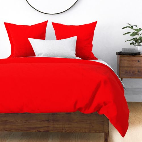 Bright Fluorescent Fireball Red Neon Duvet Cover