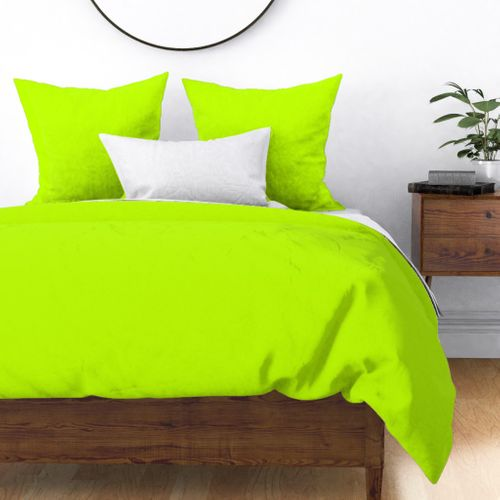 Bitter Lime Neon Green Yellow Solid Color Duvet Cover