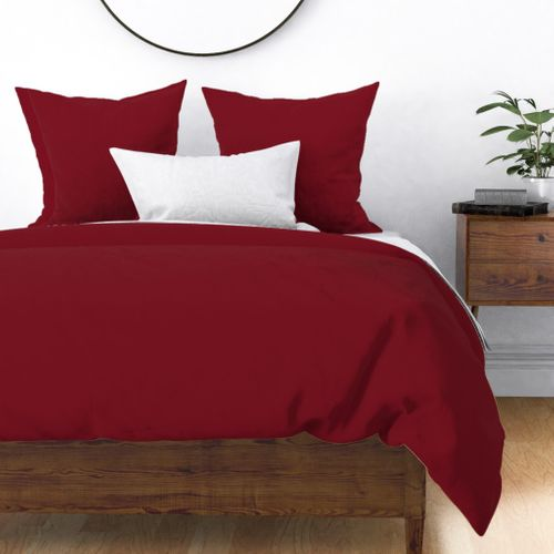 Deep Dark Red Pear 2018 Fall Winter Color Trends Duvet Cover