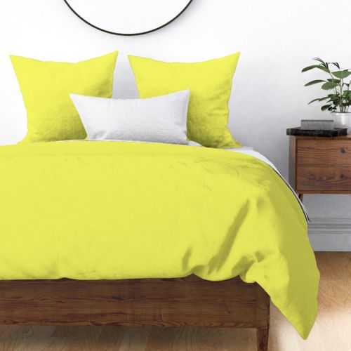 Pastel Limelight Yellow 2018 Fall Winter Color Trends Duvet Cover