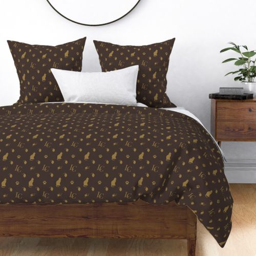 Louis Cat Fluff Luxury Cat Pattern Duvet Cover