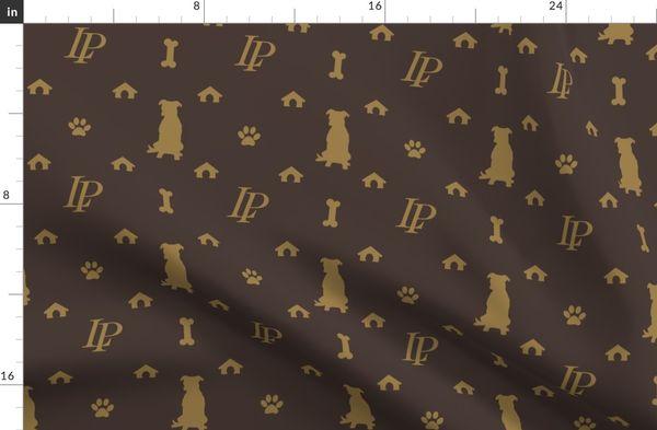 Louis Pitbull Luxury Dog Bling Pattern Duvet Cover
