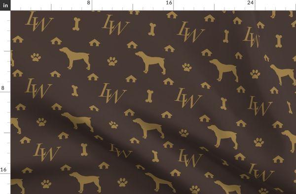Louis Weim Luxury Dog Attire Duvet Cover