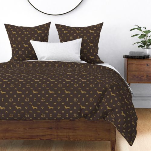Louis Dachshund  Luxury Dog Attire Duvet Cover