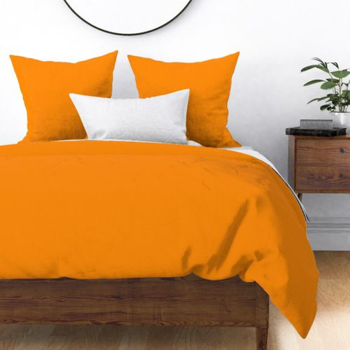Pumpkin Orange Creepy Hollow Halloween Duvet Cover