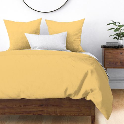 Hibiscus Solid Yellow Sunshine Accent Duvet Cover