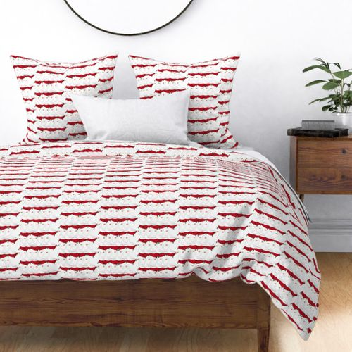12 Days of Christmas 6 Geese A-Laying Duvet Cover