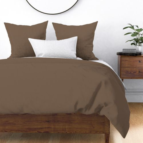 Brown Taupe Solid Summer Party Color Duvet Cover