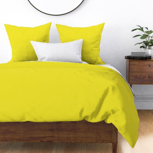 Yellow Highlighter Solid Summer Party Color Duvet Cover