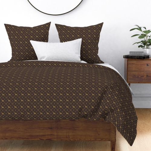 Louis Golden Retrievers Luxury Dog Pattern Duvet Cover