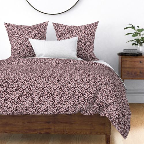Harmony Small Leopard Rose Gold Spots on Pink Duvet Cover