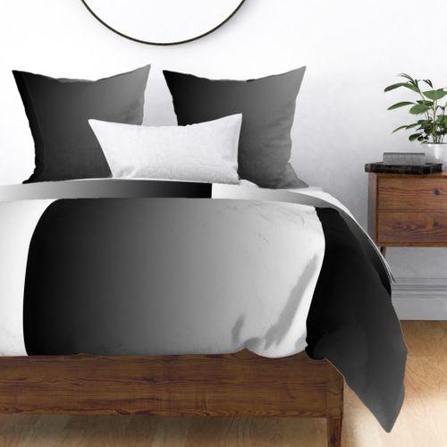 Black & White Ombre Shade Duvet Cover