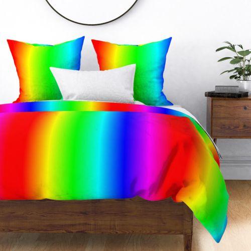 Bright Neon Rainbow Ombre Shade Duvet Cover