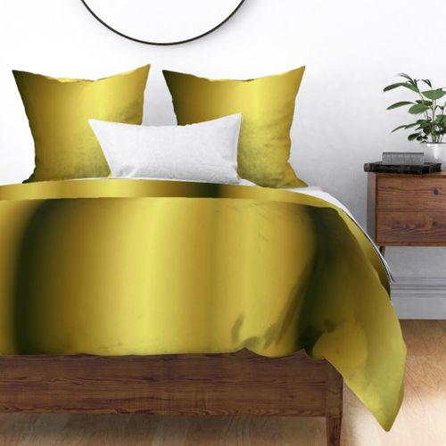 Golden to Bronze  Ombre Shade Duvet Cover
