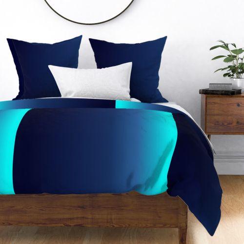 Custom - Deep Blue Sea Ombre Shade Duvet Cover