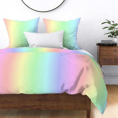 Soft Pastel Rainbow Ombre Shade Duvet Cover