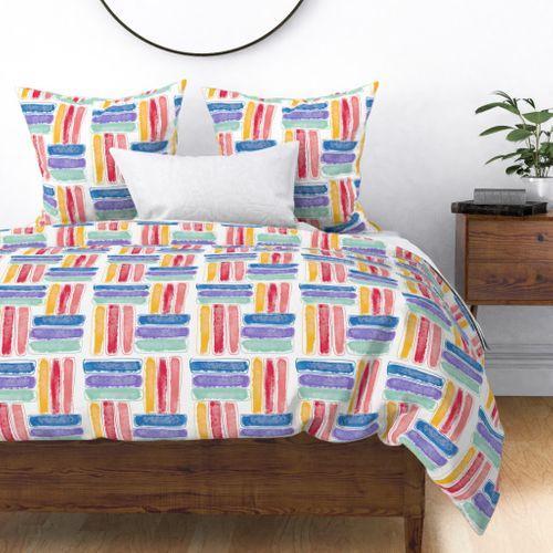 Kapa Crayon Sticks Multi Rainbow Shades Duvet Cover
