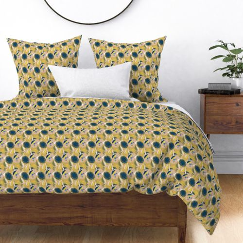 Tiny Blue Cornflower Abstract Seamless Repeat Pattern Duvet Cover