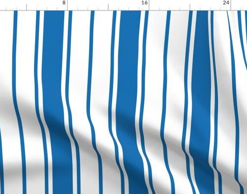 Biscayne Bay Blue and White Vertical French Stripe