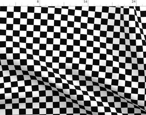 Black and White Checkerboard 1 inch-Check