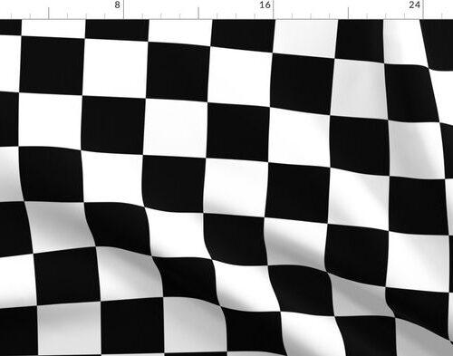 Black and White Checkerboard 3 inch-Check