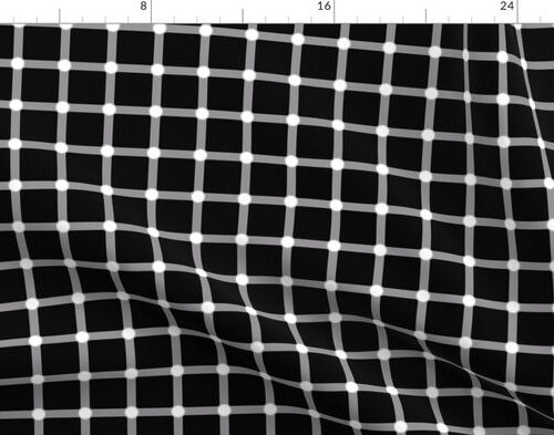 Black and White Optical Square Grid IIllusion