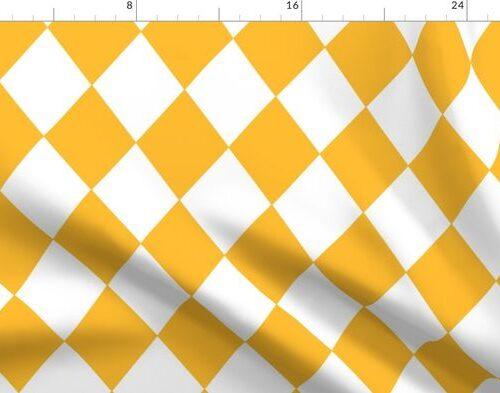 Butter Yellow Modern Diamond Pattern