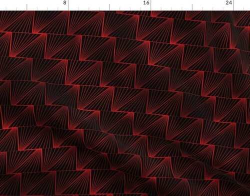 Diagonal Triangles in Black and Ruby Red Vintage Faux Foil Art Deco Vintage Foil Pattern