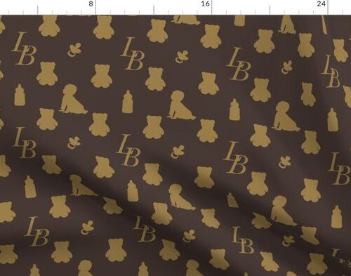 Louis Baby Luxury Iconic Monogram Pattern on Classic Brown with Tan Motifs