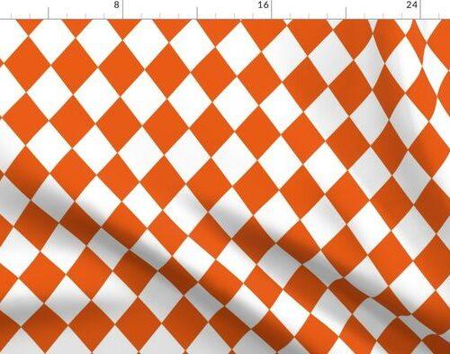 Orange Soda Small Modern Diamond Pattern