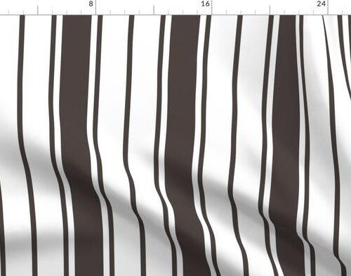 Thunder Grey Vertical Chevron French Stripes